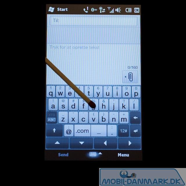 Fuldt QWERTY-tastatur i lodret position
