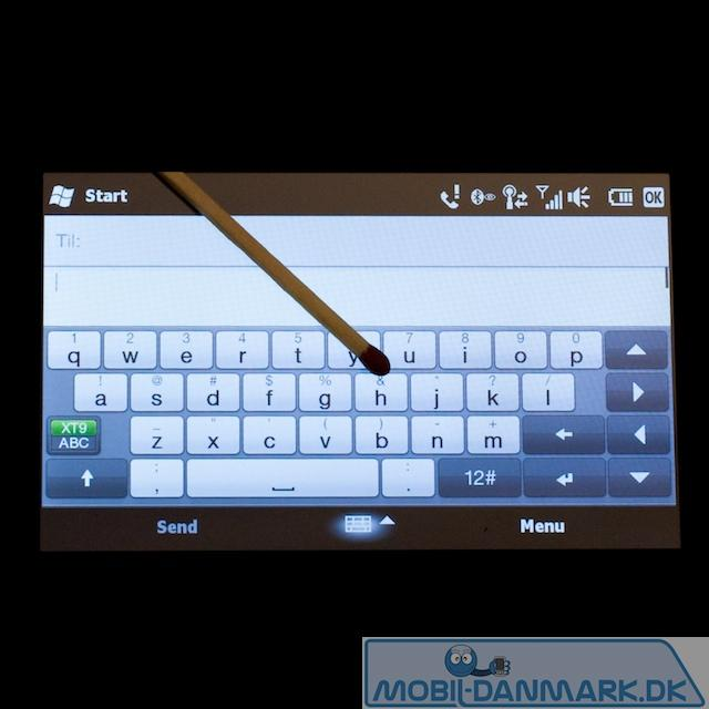 QWERTY-tastatur i vandret position
