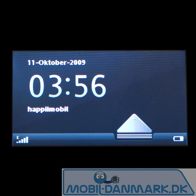 Oplåsning af touchskærmen
