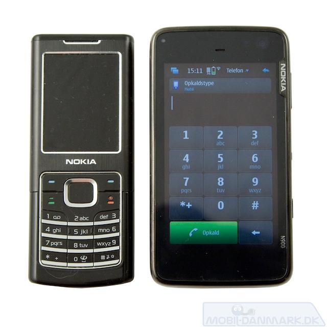 N900 ved siden af Nokia 6500 Classic