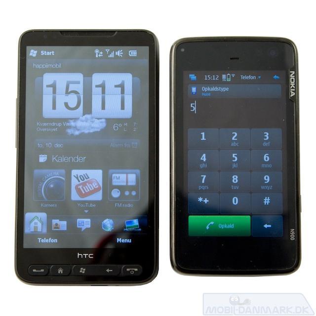 HD2 får N900 til at se lille ud - men ikke fra siden