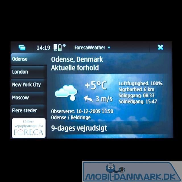 Fint vejrudsigtsprogram