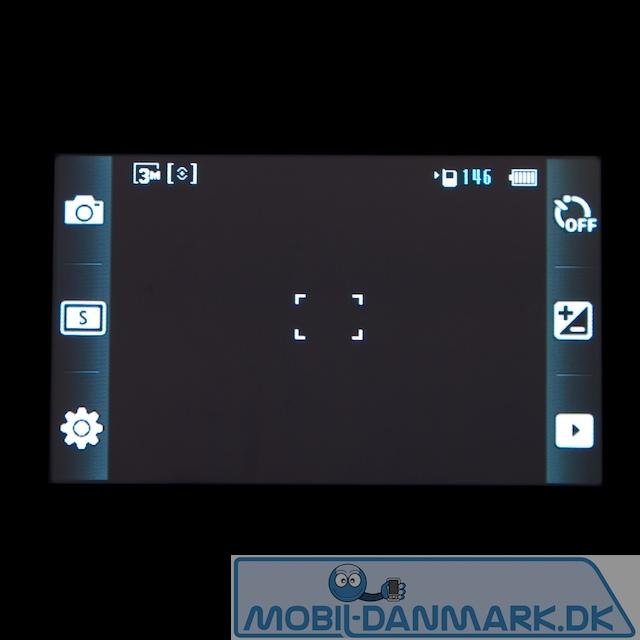 Kameramenuen med genveje på hver side
