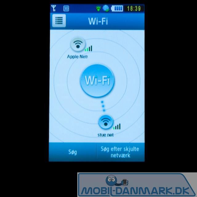 Wifi-delen - her forbundet til et netværk