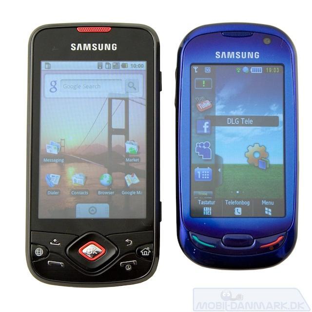 Galaxy Spica ved siden af S7550 - prisen er ens