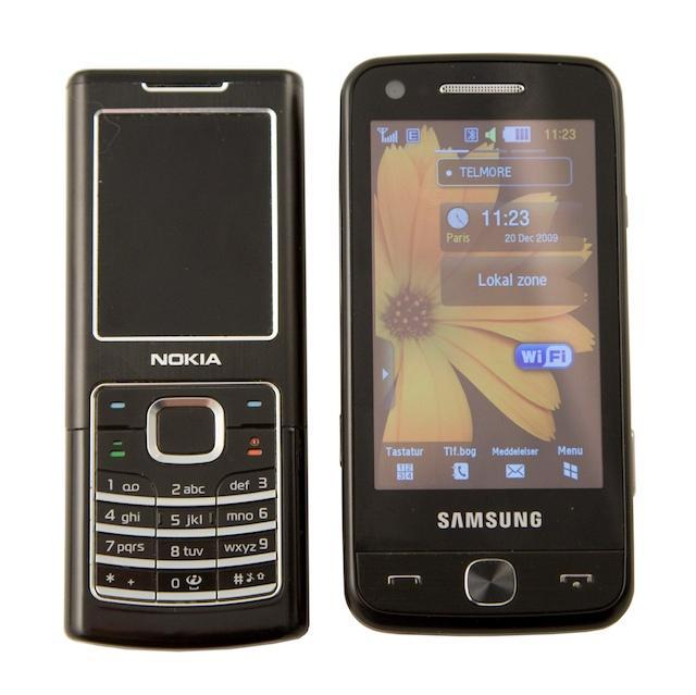 Pixon12 ved siden af Nokia 6500 Classic