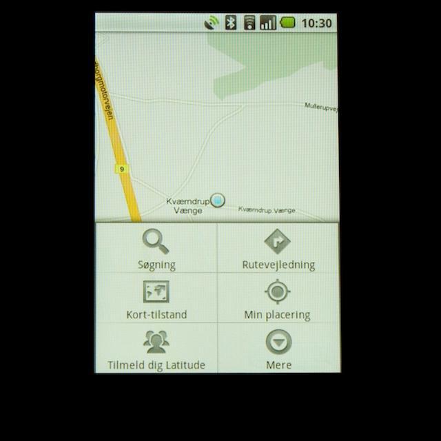 Indstillingsmuligheder i Google Maps