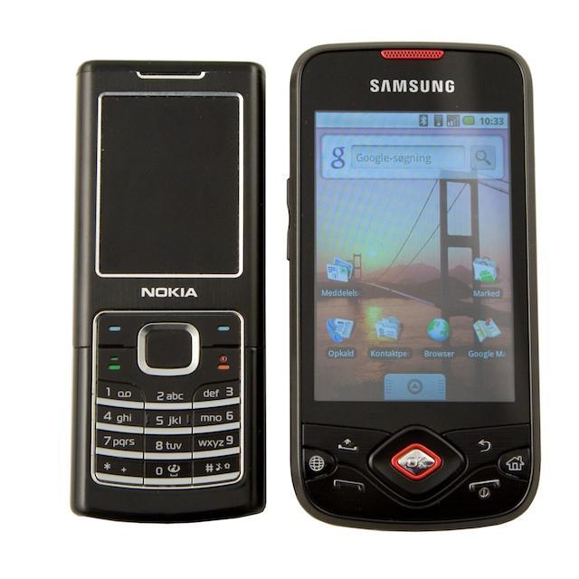 Spica ved siden af Nokia 6500 Classic