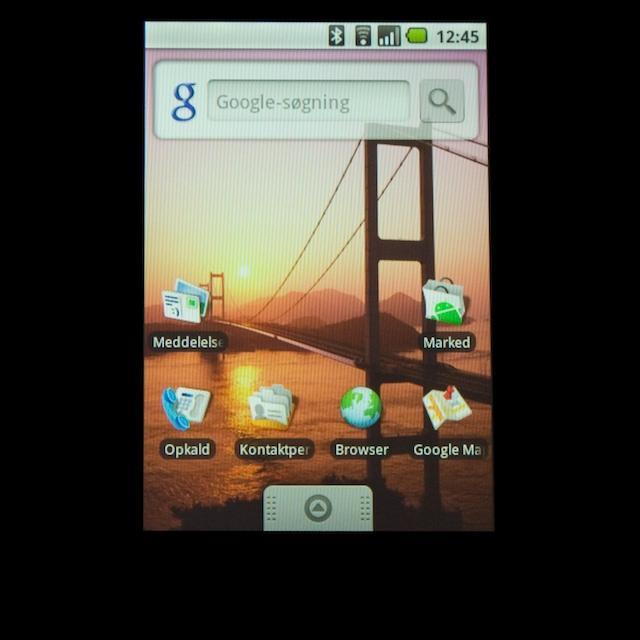 Forsiden med de forskellige widgets