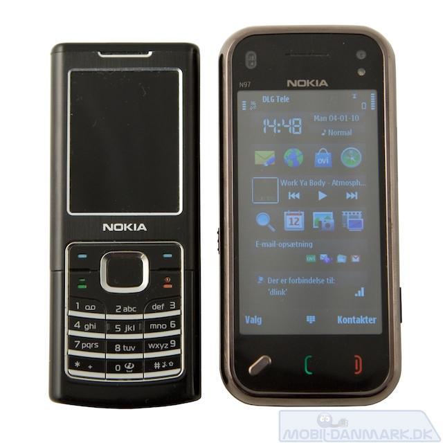 Nokia 6500 Classic ved siden af N97 mini