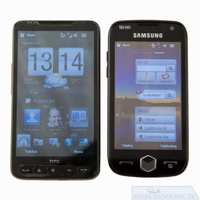 HTC HD2 er en nærliggende konkurrent og lidt større