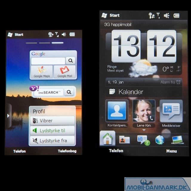 Omnia II til højre og HTC HD2 til venstre