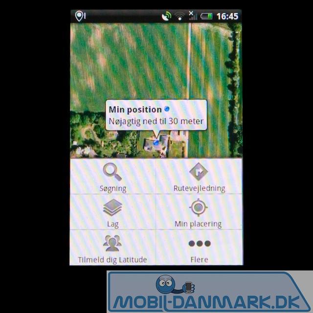 Google Maps' indstillingsmenu