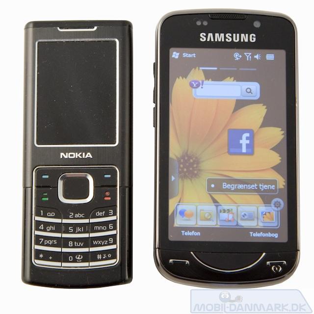 Nokia 6500 Classic ved siden af OmniaPRO