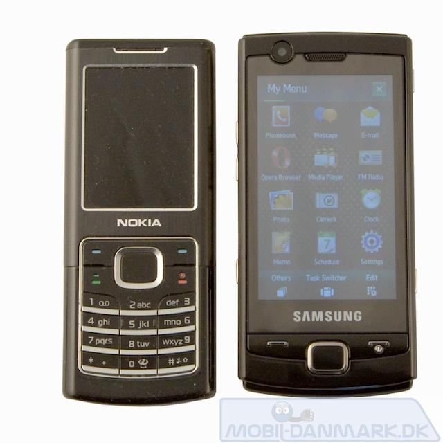 Nokia 6500 ved siden af OmniaLITE