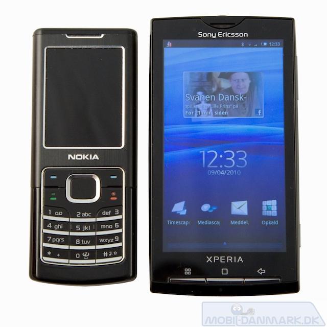Nokia 6500 Classic ved siden af X10