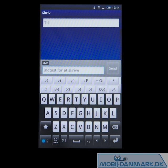 Sony Ericssons eget tastatur med smileys