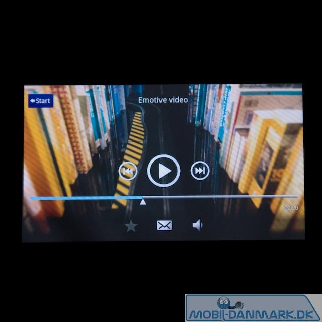 Videoafspilning - her en reklame for Sony Ericsson