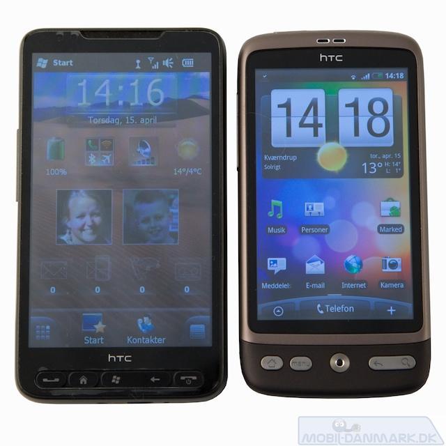 HD2 er en noget større telefon