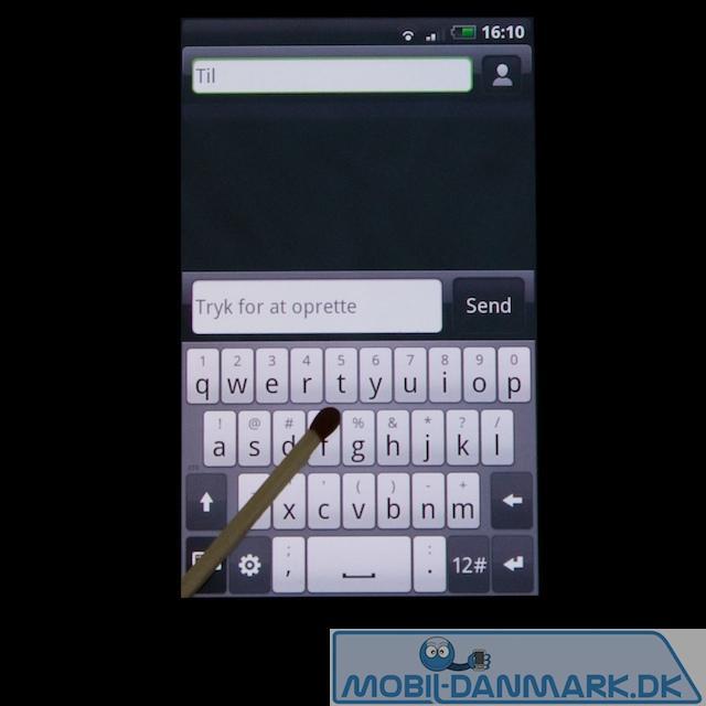 QWERTY-tastaturet i lodret position