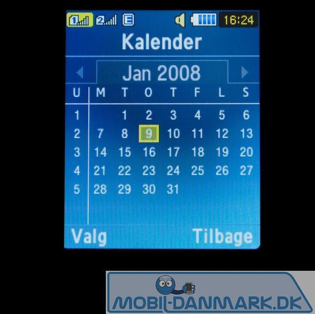 Simpel men OK kalender