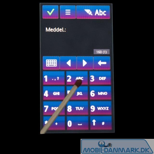 Telefontastatur med store, fine knapper