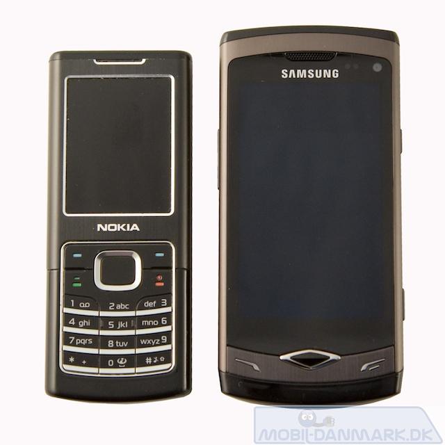 Wave ved siden af Nokia 6500