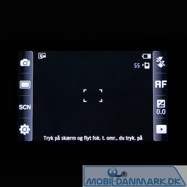Kameramenu med genvej i siderne