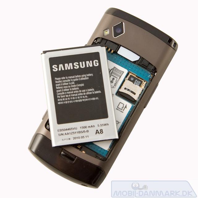 Batteriet ude - med plads til hukommelseskort