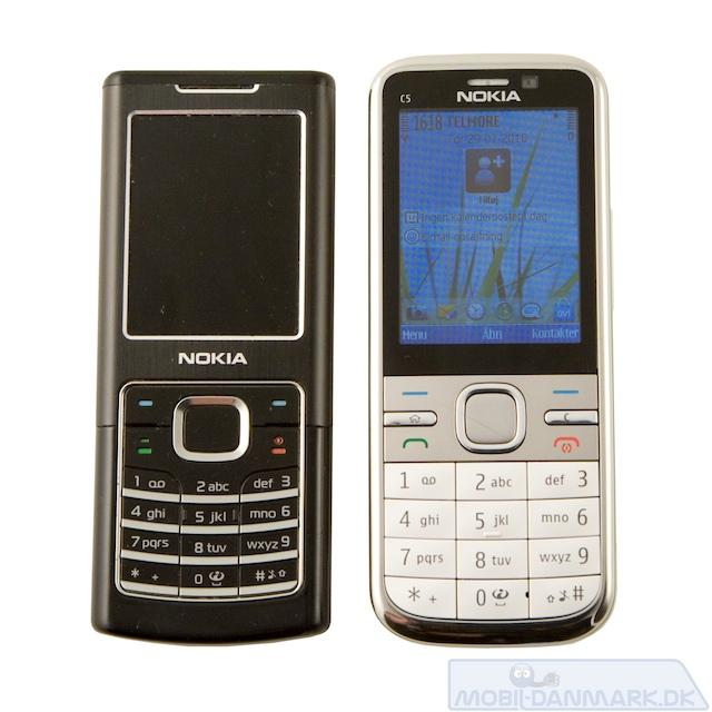 C5 ved siden af Nokia 6500 Classic