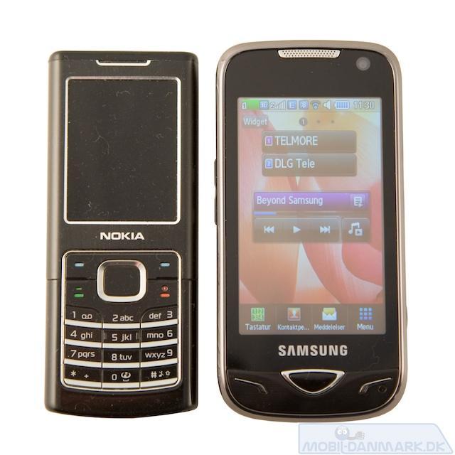 Nokia 6500 Classic ved siden af B7722
