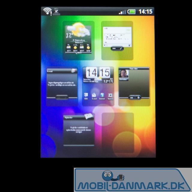 Sense-overblik og home screen