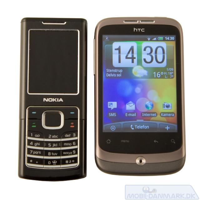 Nokia 6500 Classic ved siden af Wildfire