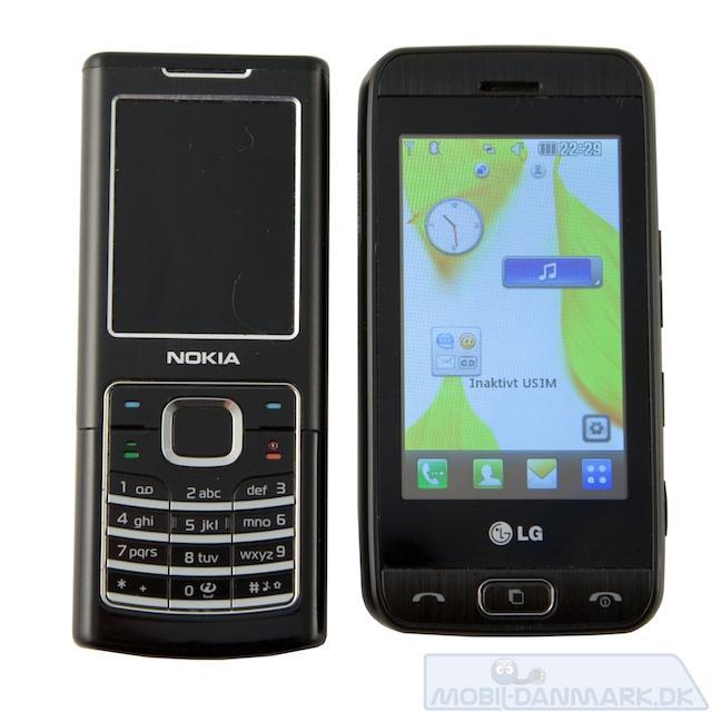 Nokia 6500 Classic ved siden af GT400