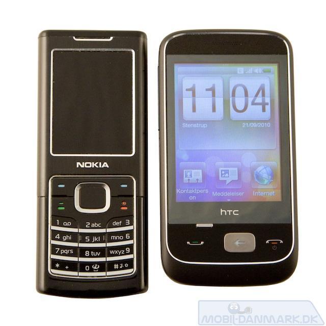 Nokia 6500 Classic ved siden af Smart