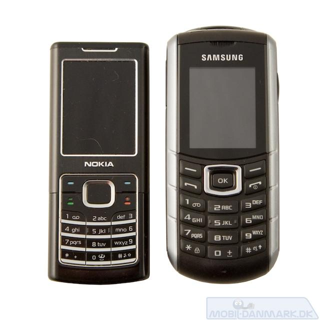 Nokia 6500 Classic ved siden af Xcover