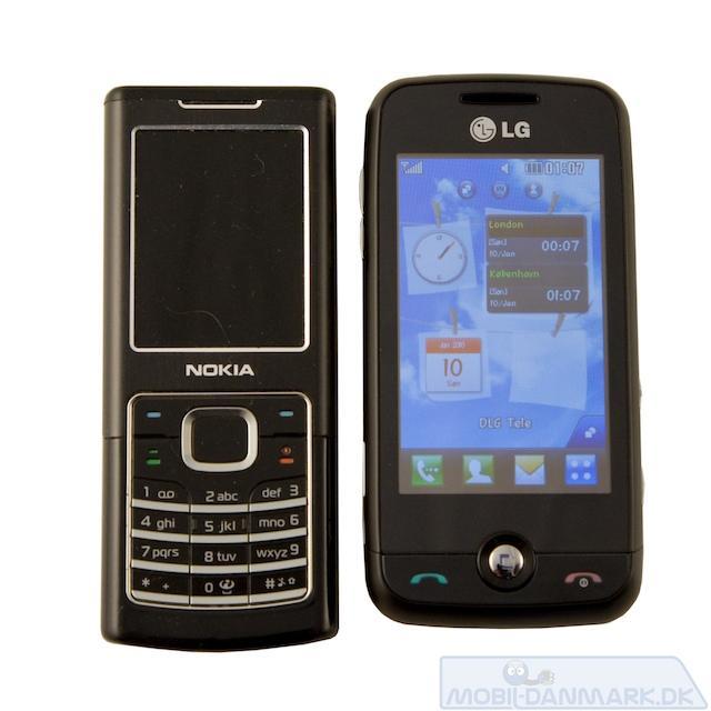 Nokia 6500 Classic ved siden af Cookie Fresh