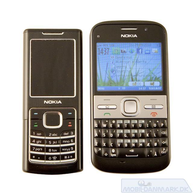 Nokia 6500 Classic ved siden af E5