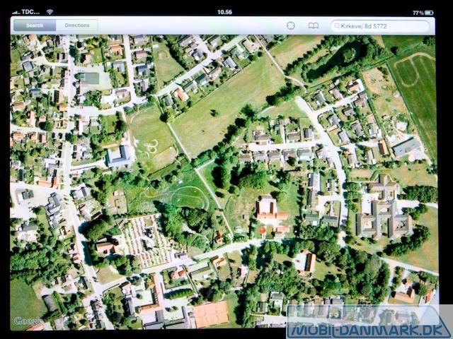 Google Maps med satelitkort