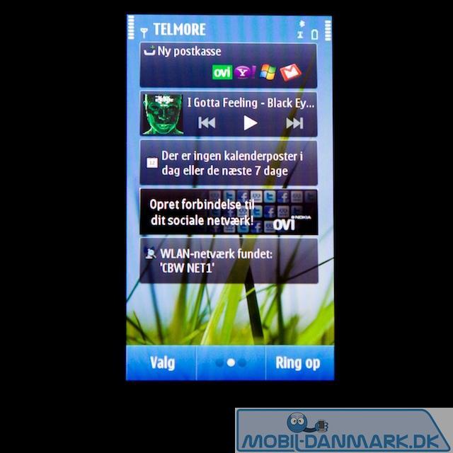 Symbian 3 home screen