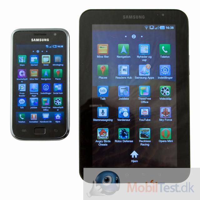 Her Galaxy S og Galaxy Tab