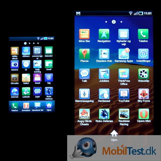 Galaxy S' v. Galaxy Tabs programmenu