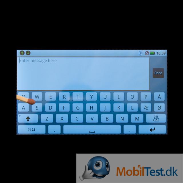 QWERTY-tastaturet i vandret