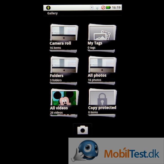 Videoafspiller gennem galleri