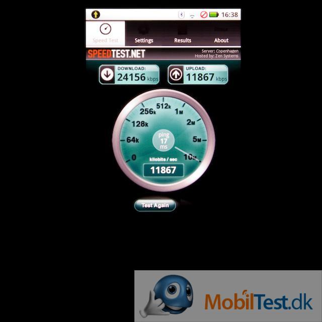 Speedtest på netforbindelse