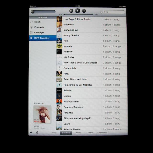 Oversigt over musiknumre