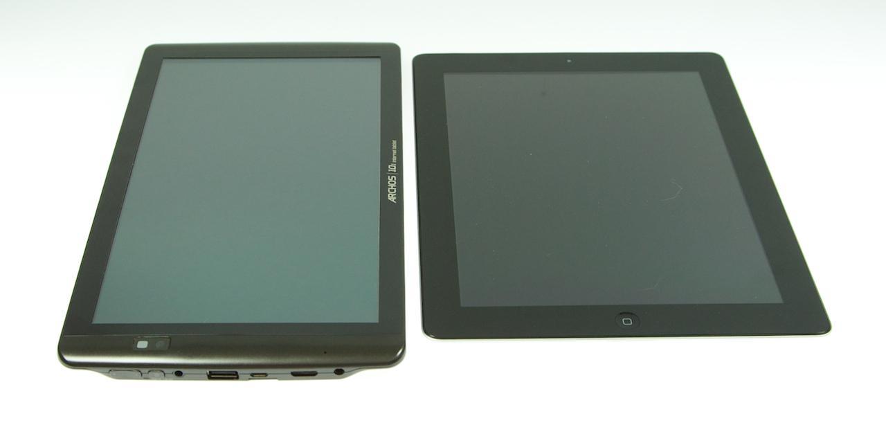 Archos 101 ved siden af iPad 2