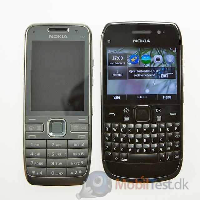 Nokia E52 og E6