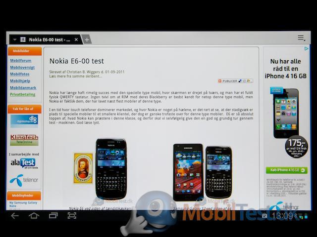 Webbrowser - mobiltest.dk