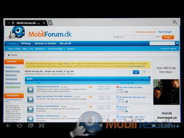Webbrowser med god bred skærm